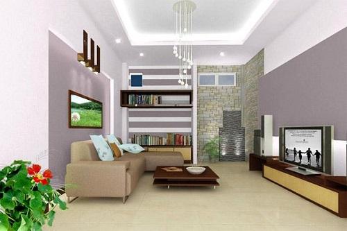 10 mẫu nội thất phòng khách nhà ống