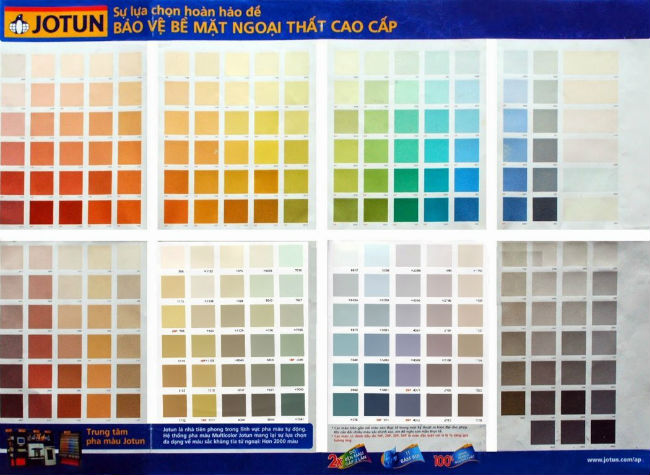Bảng màu sơn Jotun với 3 màu cơ bản và cách phối màu đẹp