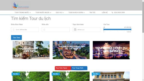 Tại sao công ty du lịch Nam Á Châu thiết kế web chuyên nghiệp?